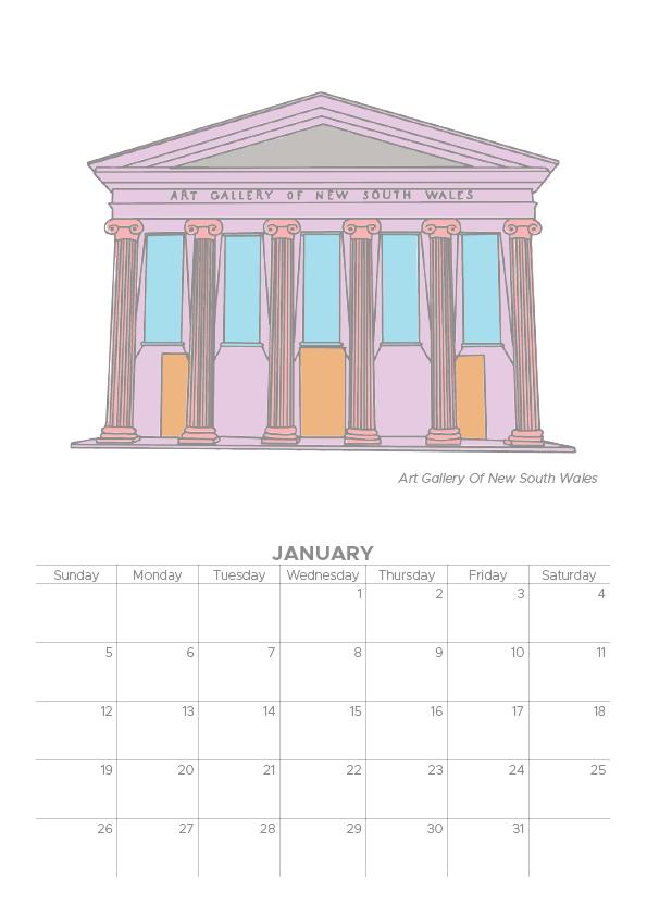 2020 Sydney Collection Calendar by Porridge Design