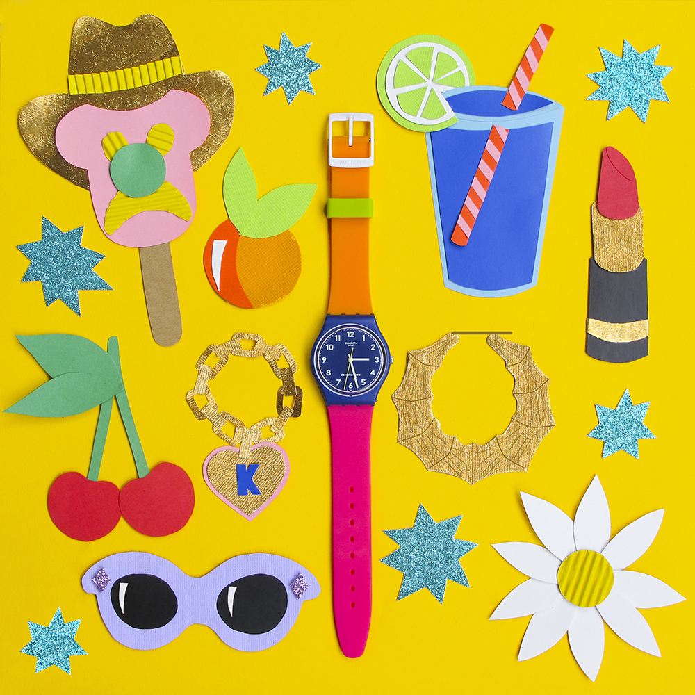 Kitiya Palaskas Swatch Watch Paper cut Collaboration